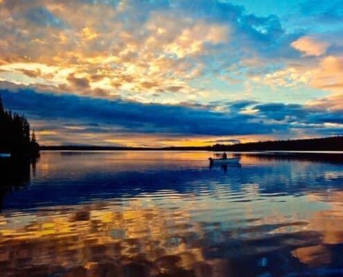 sunset cariboo region